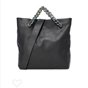 Kendall & Kylie tote with rainbow chain